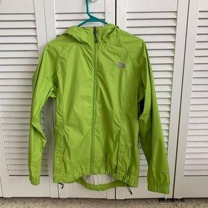 Lime Green North Face rain jacket